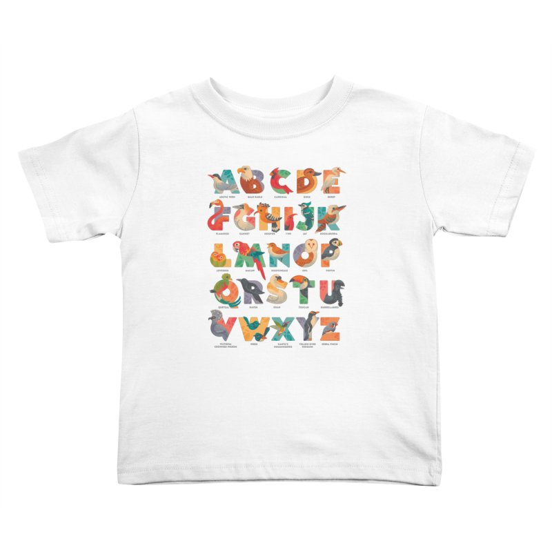 Aerialphabet (labelled) Kids Toddler T-Shirt by Waynem