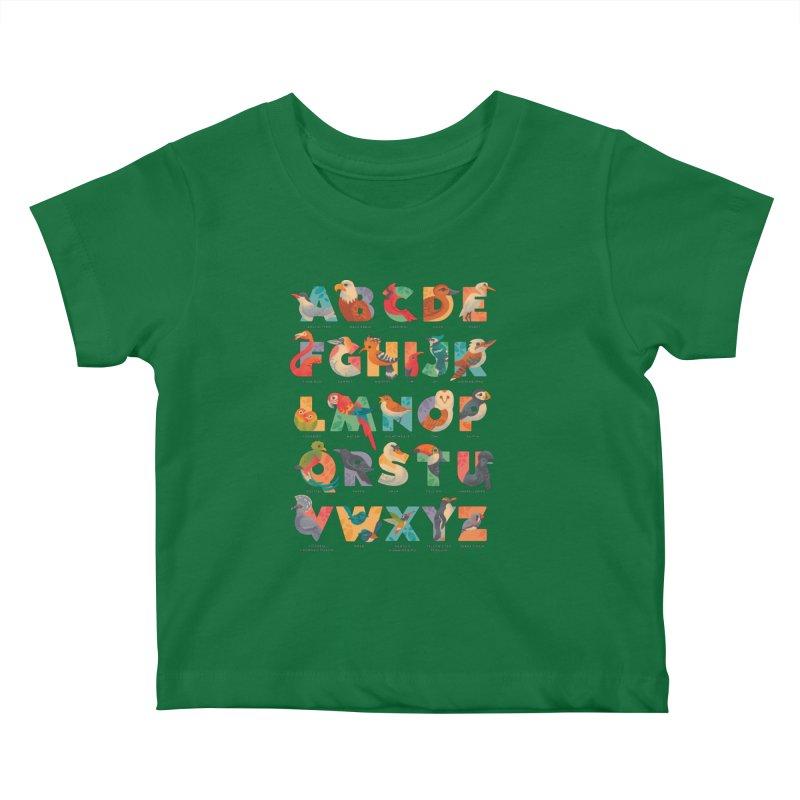 Aerialphabet (labelled) Kids Baby T-Shirt by Waynem