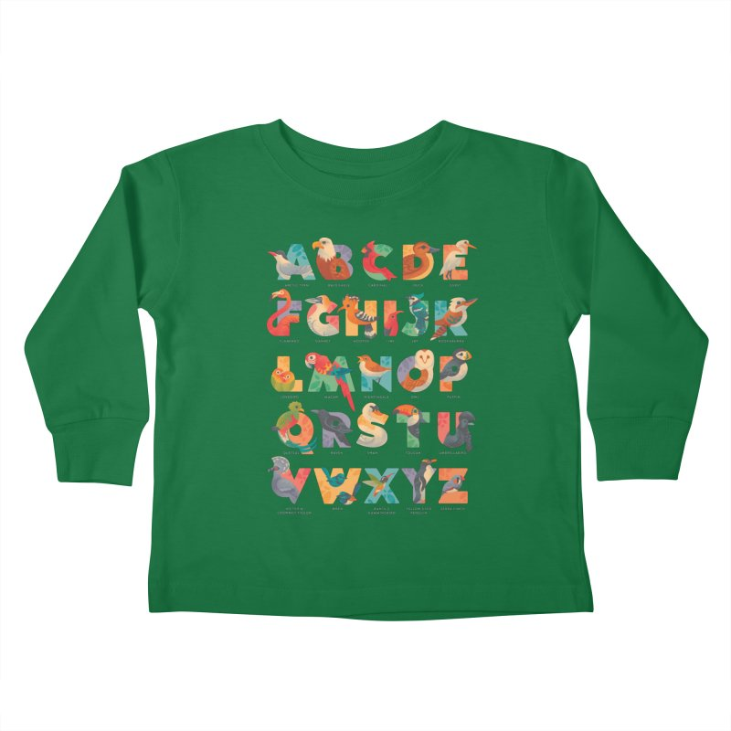 Aerialphabet (labelled) Kids Toddler Longsleeve T-Shirt by Waynem