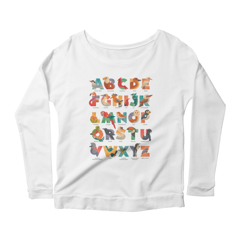 Aerialphabet (labelled) Women's Scoop Neck Longsleeve T-Shirt by Waynem