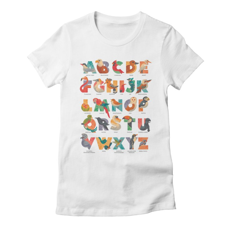 Aerialphabet (labelled) Women's Fitted T-Shirt by Waynem