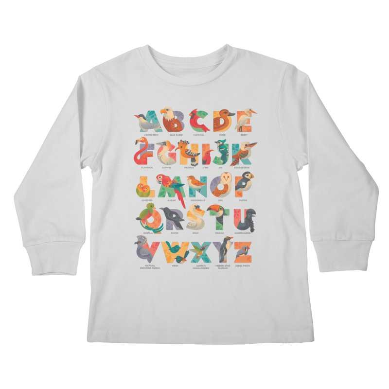 Aerialphabet (labelled) Kids Longsleeve T-Shirt by Waynem