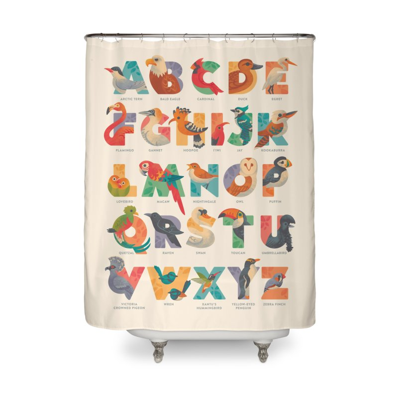 Aerialphabet (labelled) Home Shower Curtain by Waynem