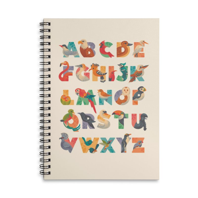 Aerialphabet Accessories Lined Spiral Notebook by Waynem