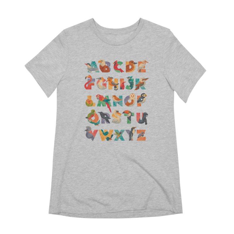 Aerialphabet Women's Extra Soft T-Shirt by Waynem
