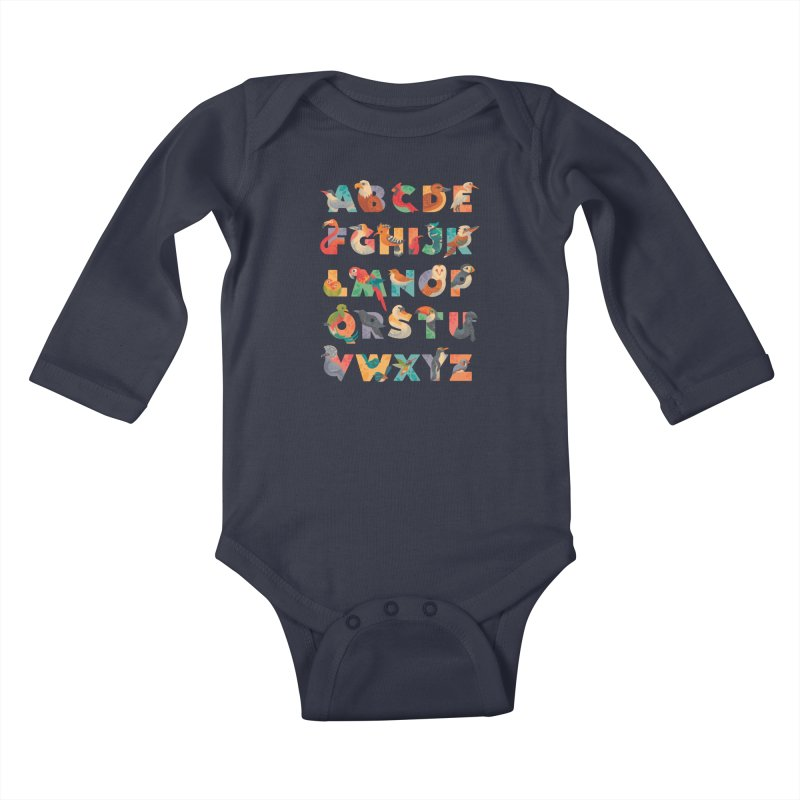 Aerialphabet Kids Baby Longsleeve Bodysuit by Waynem