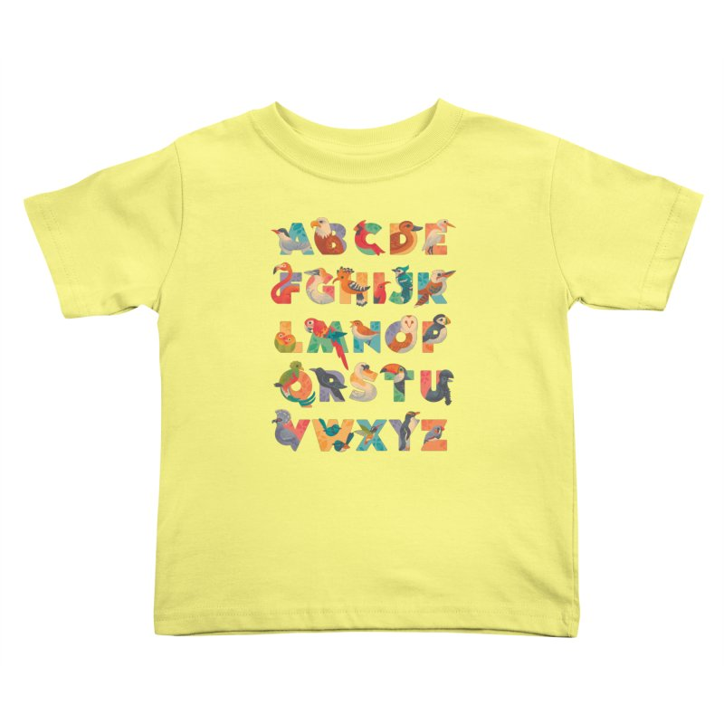 Aerialphabet Kids Toddler T-Shirt by Waynem