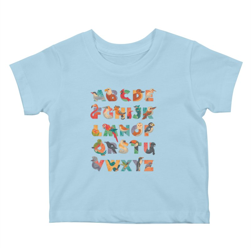 Aerialphabet Kids Baby T-Shirt by Waynem