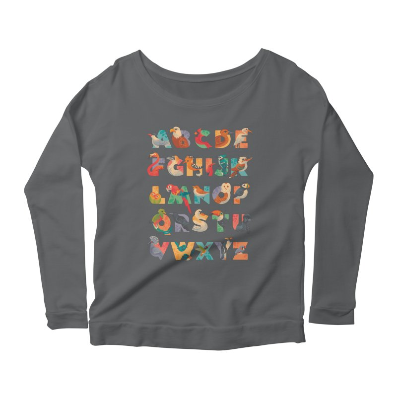 Aerialphabet Women's Scoop Neck Longsleeve T-Shirt by Waynem