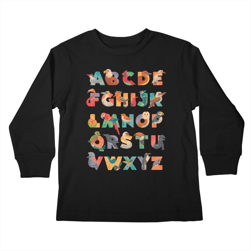 Aerialphabet Kids Longsleeve T-Shirt by Waynem