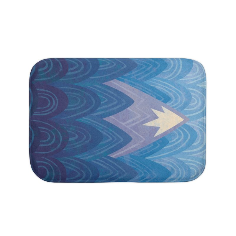 Towering Mountain : blue Home Bath Mat by Waynem