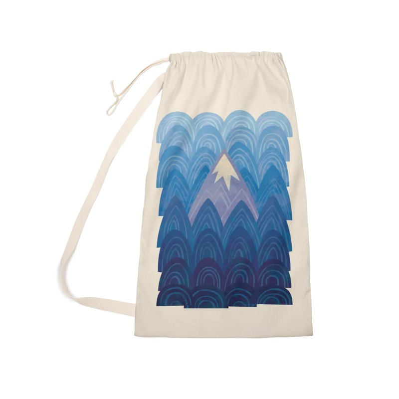 Towering Mountain : blue Accessories Laundry Bag Bag by Waynem