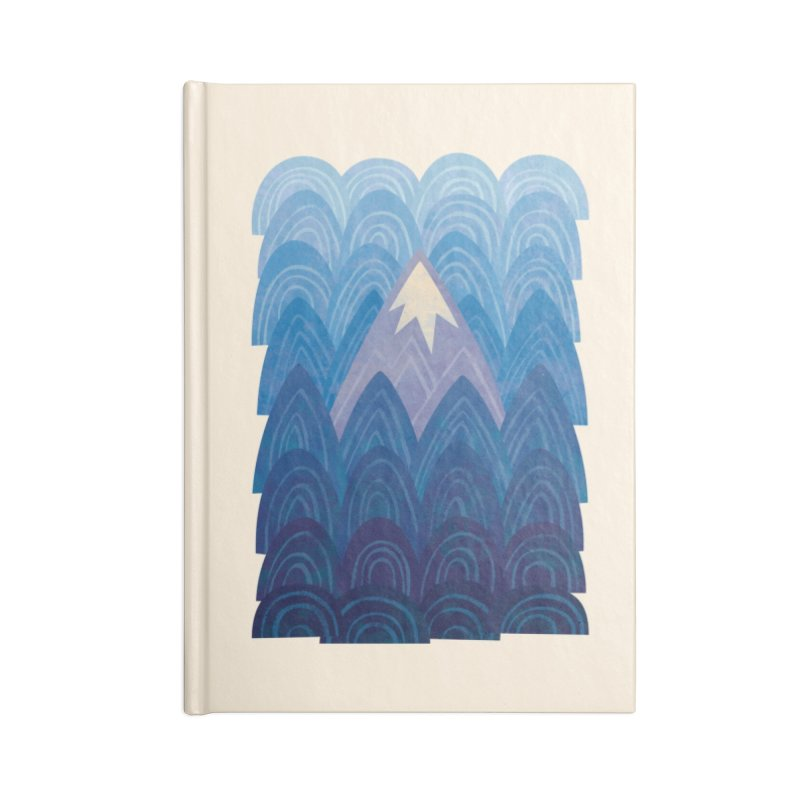 Towering Mountain : blue Accessories Lined Journal Notebook by Waynem