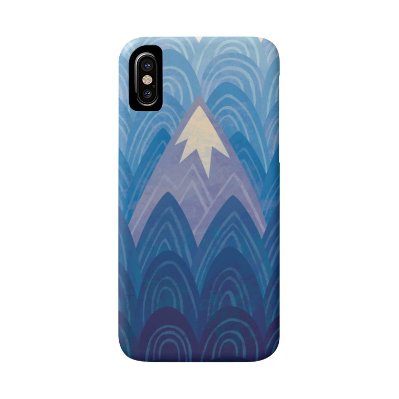 Towering Mountain : blue Accessories Phone Case by Waynem