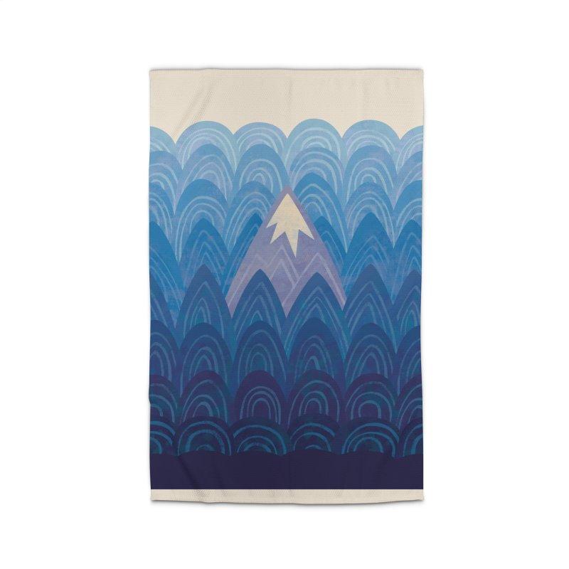 Towering Mountain : blue Home Rug by Waynem