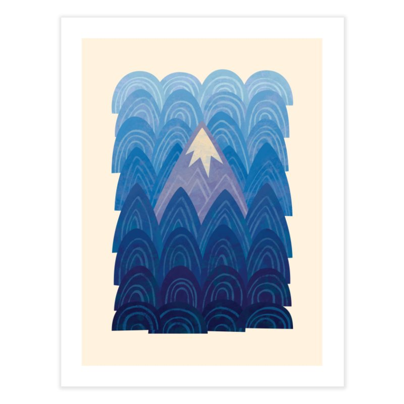 Towering Mountain : blue Home Fine Art Print by Waynem