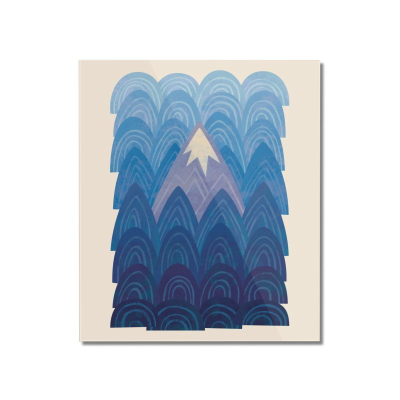 Towering Mountain : blue Home Mounted Acrylic Print by Waynem