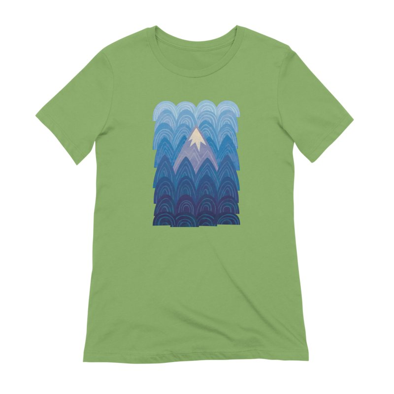 Towering Mountain : blue Women's Extra Soft T-Shirt by Waynem