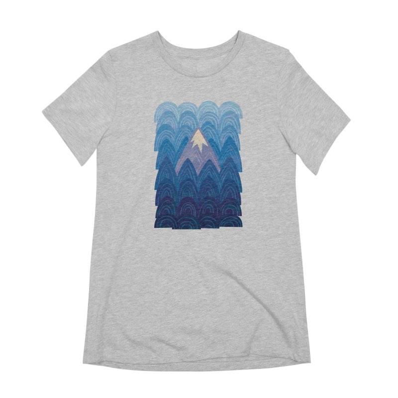 Towering Mountain : blue Women's Extra Soft T-Shirt by Waynem