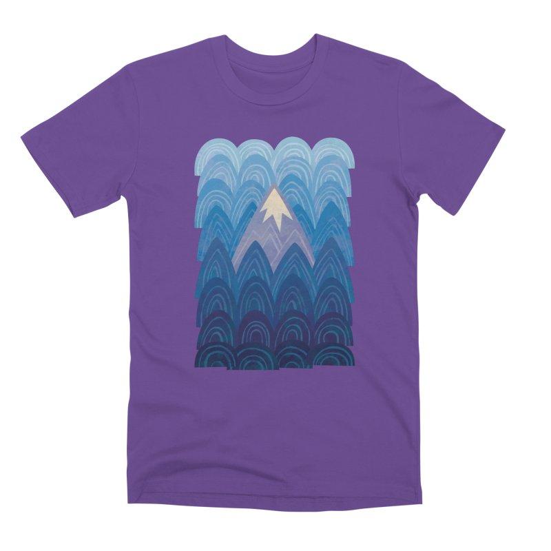 Towering Mountain : blue Men's Premium T-Shirt by Waynem