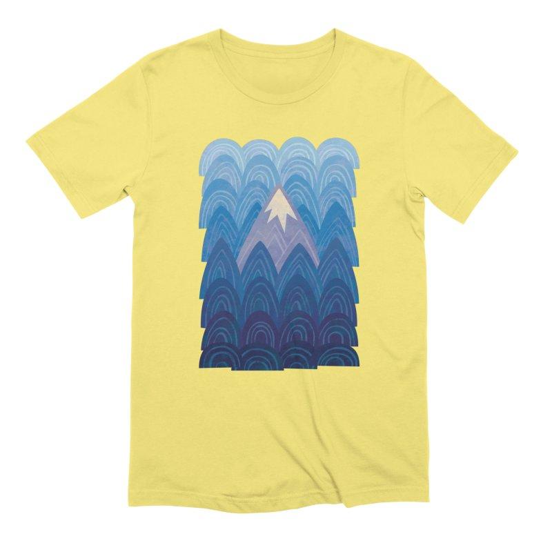Towering Mountain : blue Men's Extra Soft T-Shirt by Waynem