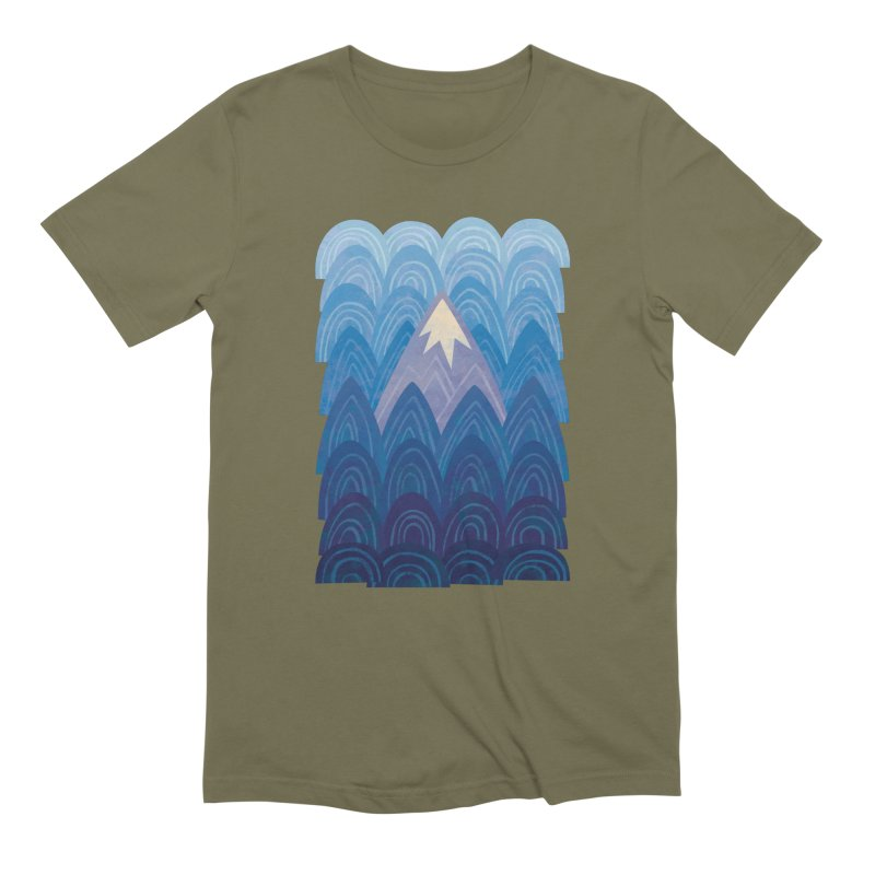 Towering Mountain : blue Men's Extra Soft T-Shirt by Waynem
