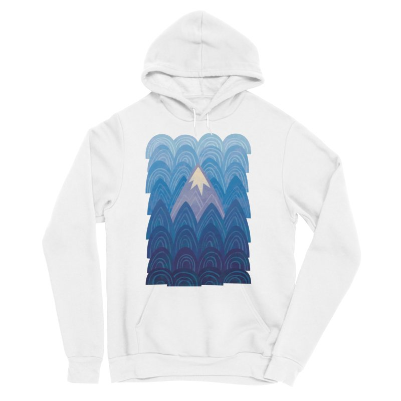 Towering Mountain : blue Men's Sponge Fleece Pullover Hoody by Waynem