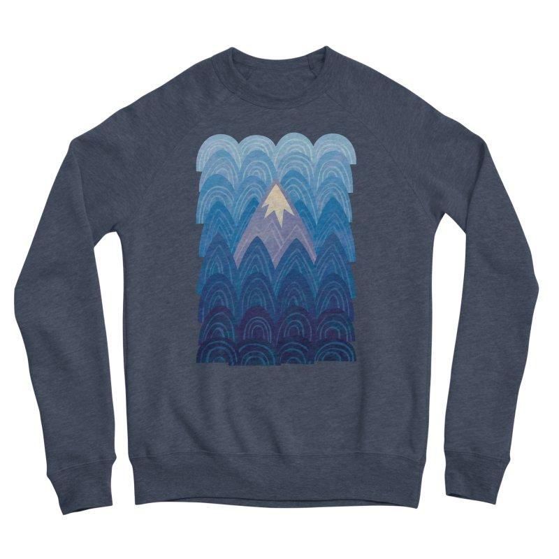 Towering Mountain : blue Women's Sponge Fleece Sweatshirt by Waynem