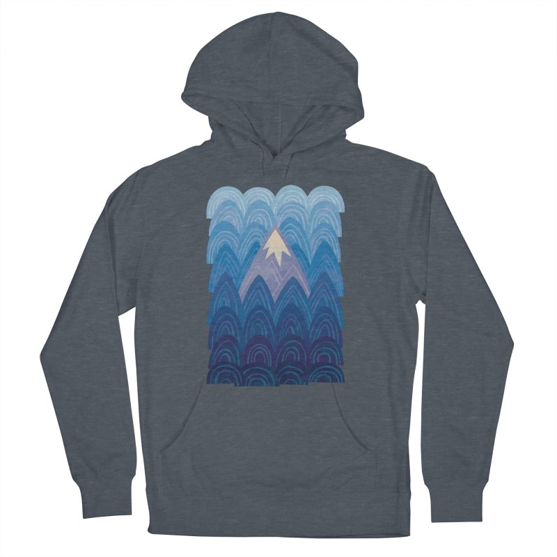 Towering Mountain : blue Women's French Terry Pullover Hoody by Waynem