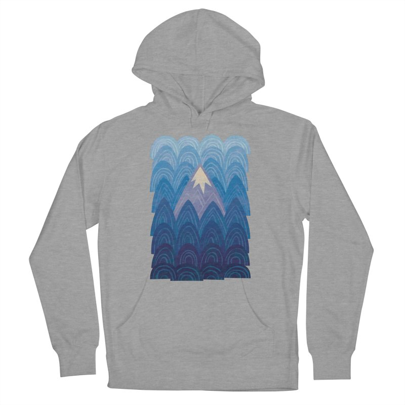 Towering Mountain : blue Men's French Terry Pullover Hoody by Waynem