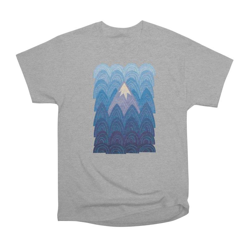 Towering Mountain : blue Men's Heavyweight T-Shirt by Waynem
