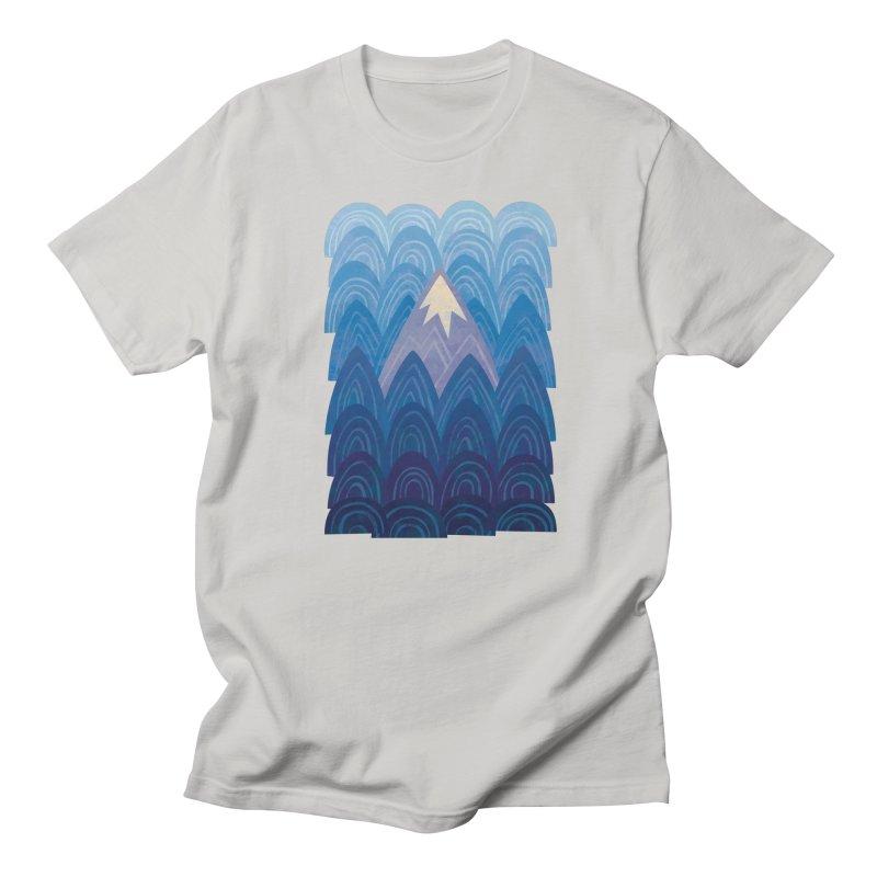 Towering Mountain : blue Men's Regular T-Shirt by Waynem