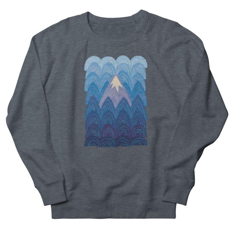 Towering Mountain : blue Women's French Terry Sweatshirt by Waynem