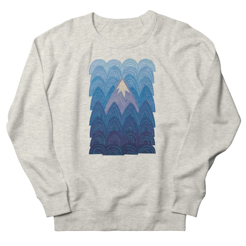 Towering Mountain : blue Women's French Terry Sweatshirt by Waynem