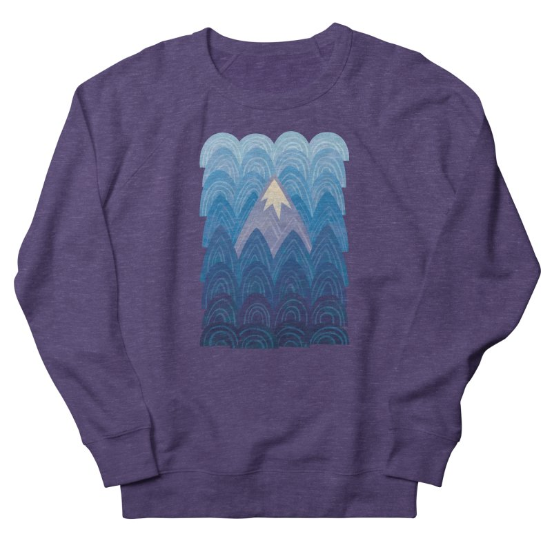 Towering Mountain : blue Men's French Terry Sweatshirt by Waynem