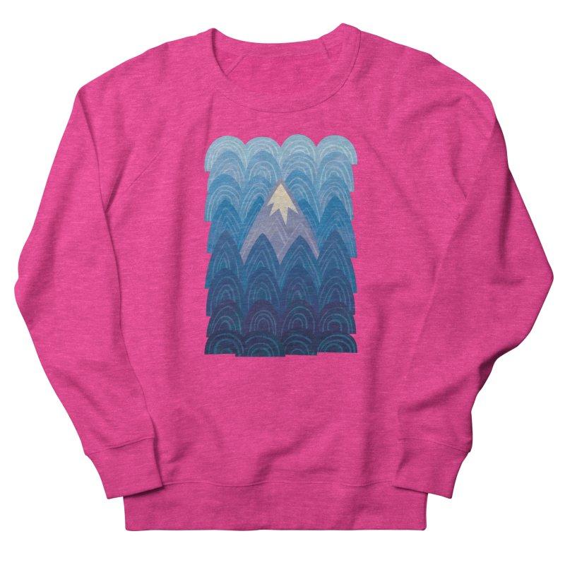 Towering Mountain : blue Men's French Terry Sweatshirt by Waynem