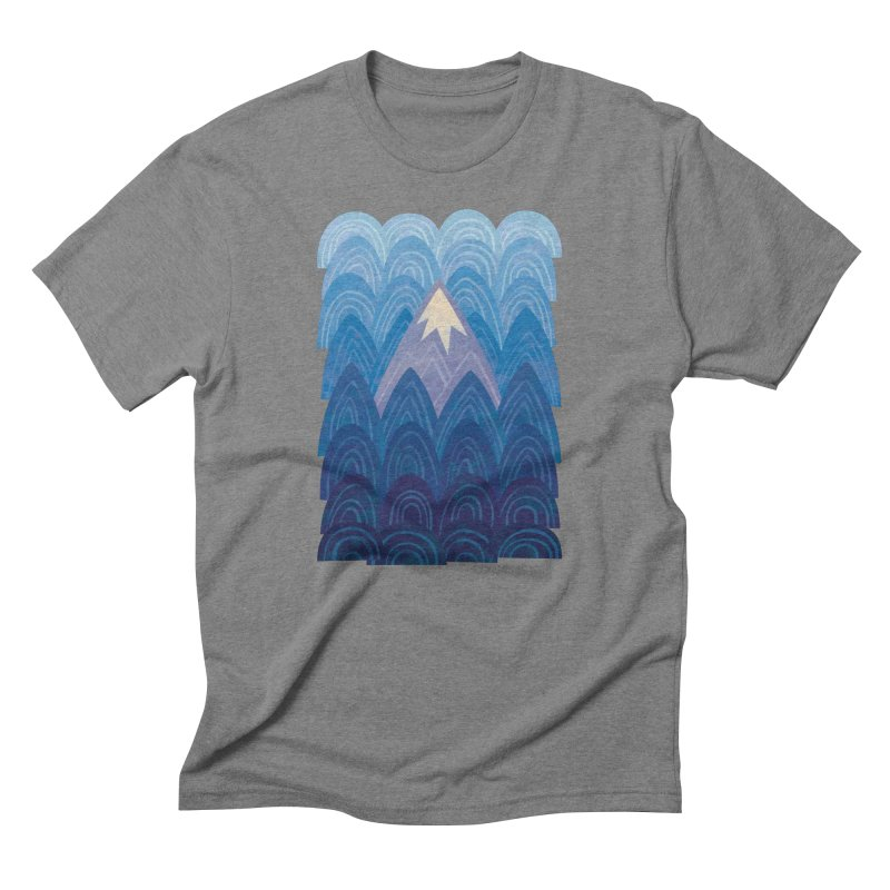 Towering Mountain : blue Men's Triblend T-Shirt by Waynem
