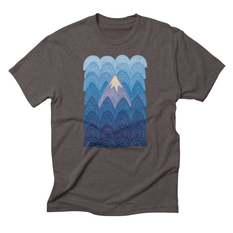 Towering Mountain : blue Men's Triblend T-Shirt by Waynem
