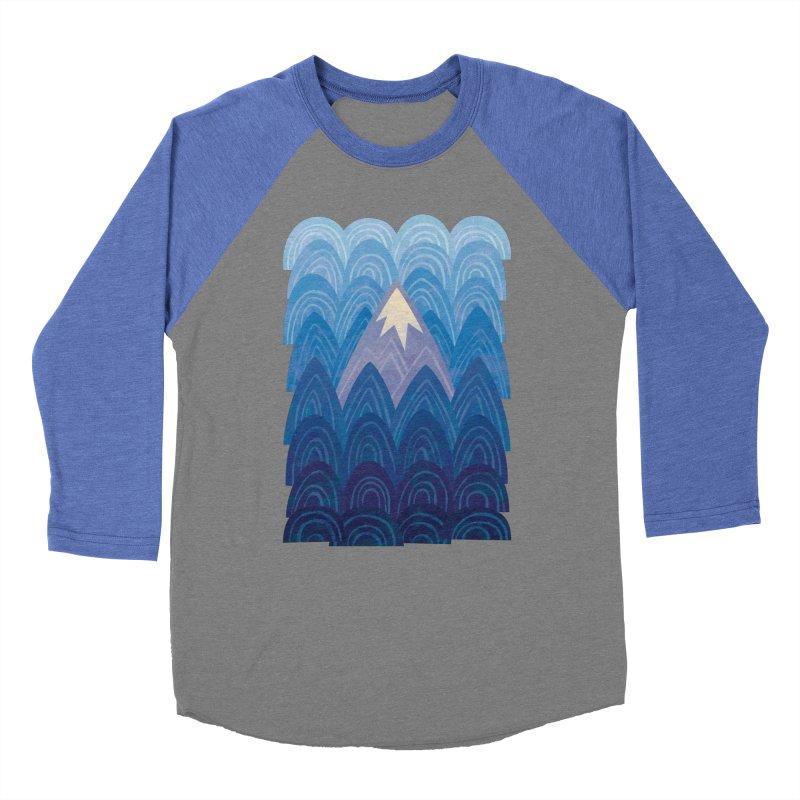 Towering Mountain : blue Women's Baseball Triblend Longsleeve T-Shirt by Waynem