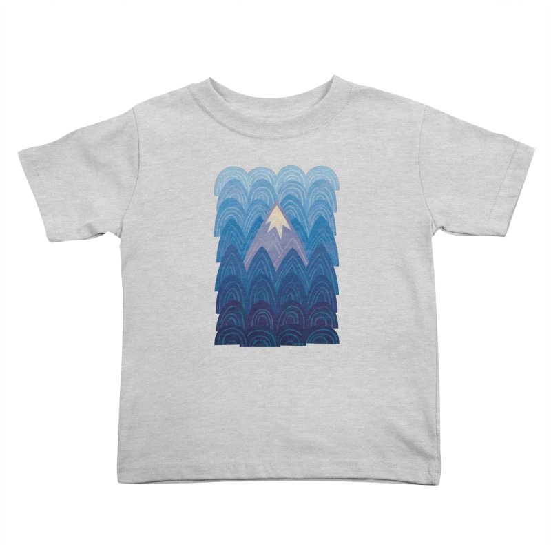 Towering Mountain : blue Kids Toddler T-Shirt by Waynem