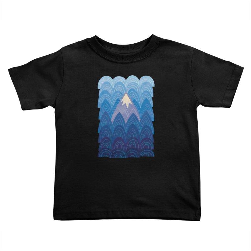 Towering Mountain : blue Kids Toddler T-Shirt by Waynem