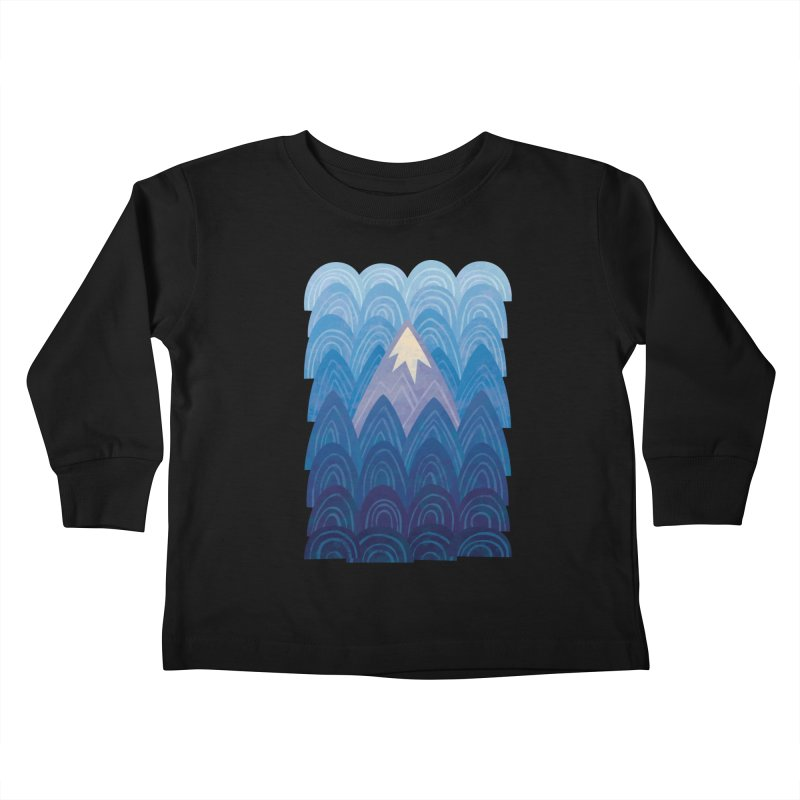 Towering Mountain : blue Kids Toddler Longsleeve T-Shirt by Waynem