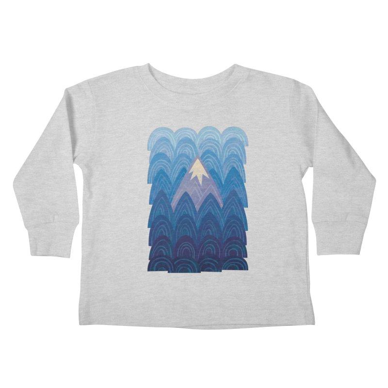 Towering Mountain : blue Kids Toddler Longsleeve T-Shirt by Waynem