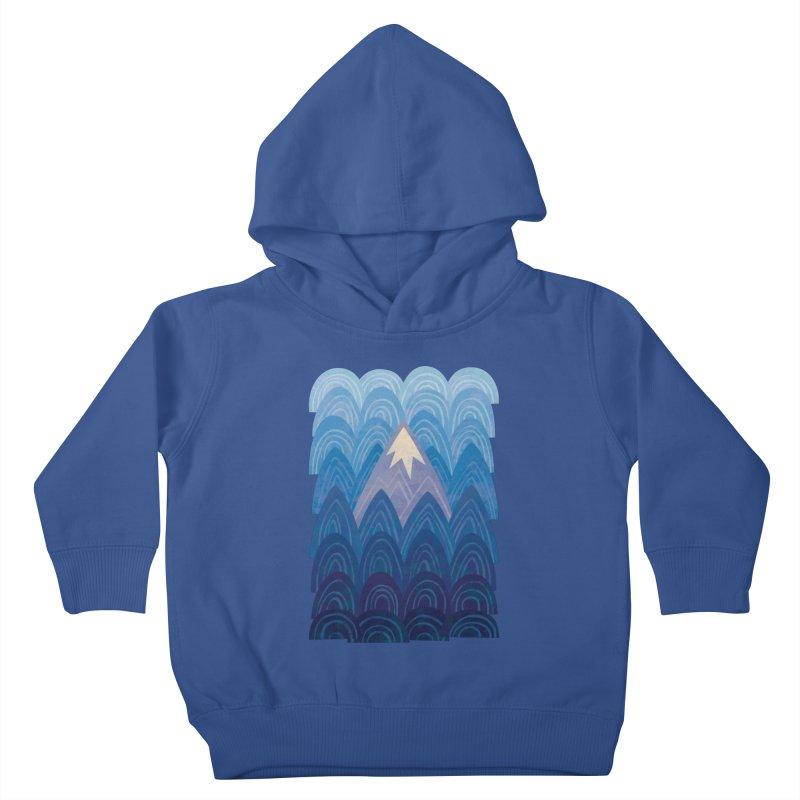 Towering Mountain : blue Kids Toddler Pullover Hoody by Waynem
