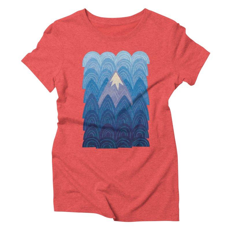 Towering Mountain : blue Women's Triblend T-Shirt by Waynem