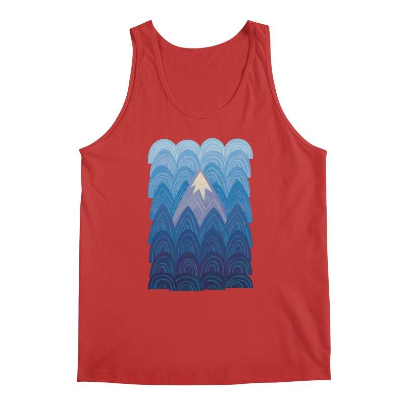 Towering Mountain : blue Men's Regular Tank by Waynem