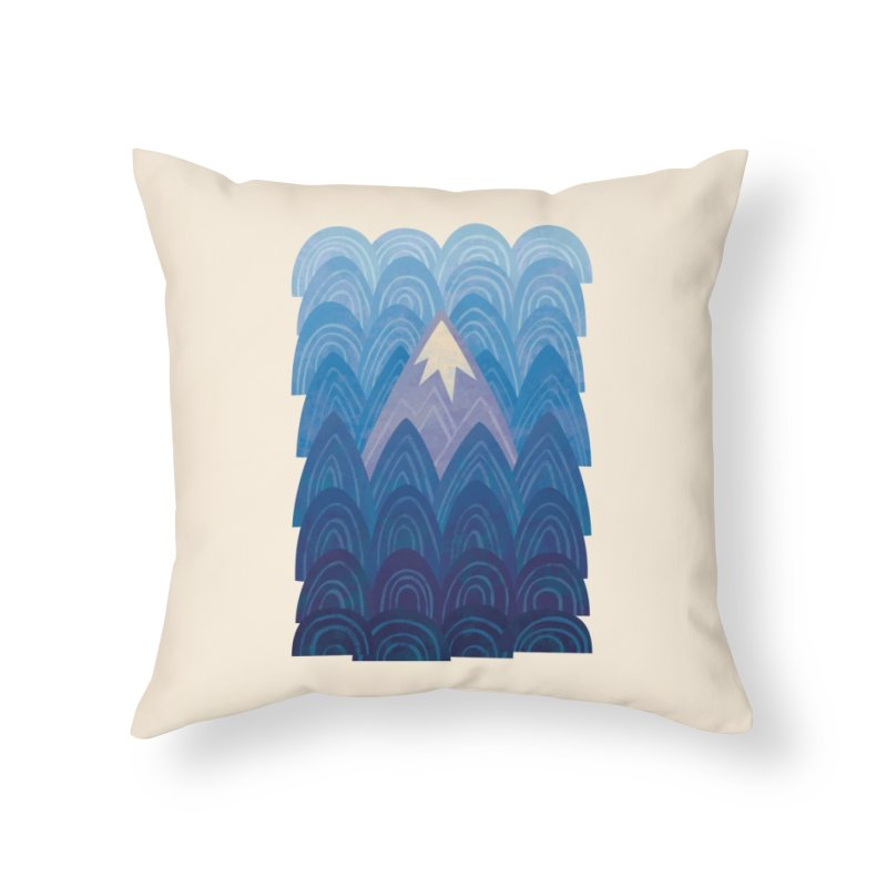 Towering Mountain : blue Home Throw Pillow by Waynem