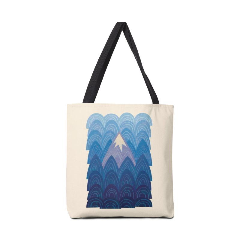 Towering Mountain : blue Accessories Tote Bag Bag by Waynem