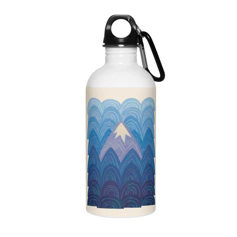 Towering Mountain : blue Accessories Water Bottle by Waynem