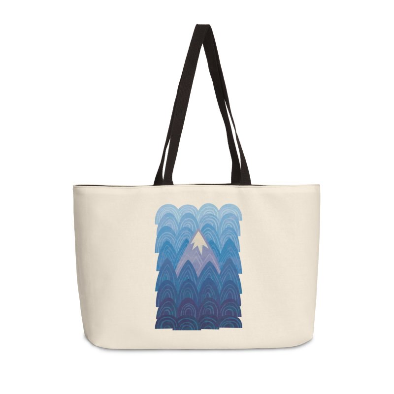 Towering Mountain : blue Accessories Weekender Bag Bag by Waynem